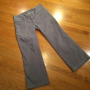 The North Face gray corduroy pants 14 regular